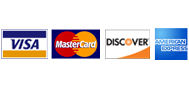 We Proudly Accept Visa, Mastercard, Discover & American Express
