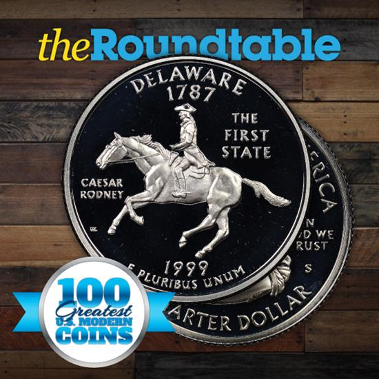 100 Greatest U.S. Modern Coins Series: 1999 S Proof Silver Delaware Quarter