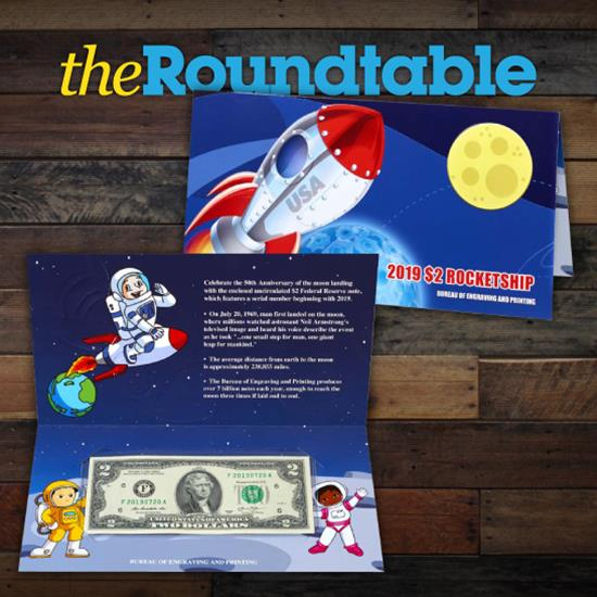 United States Mint Releases 2019 $2 Rocketship Currency Note For Kids
