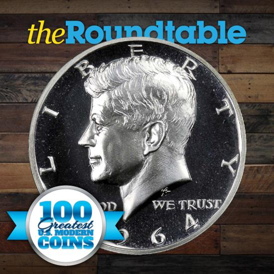 100 Greatest U.S. Modern Coins Series: 1964 Kennedy Half Dollar, Accented Hair, Proof