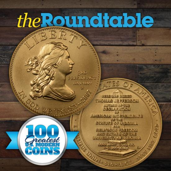 "100 Greatest U.S. Modern Coins Series: 2007-W, 2008-W, and 2010-W $10 First Spouse Gold, ""Liberty Designs"""