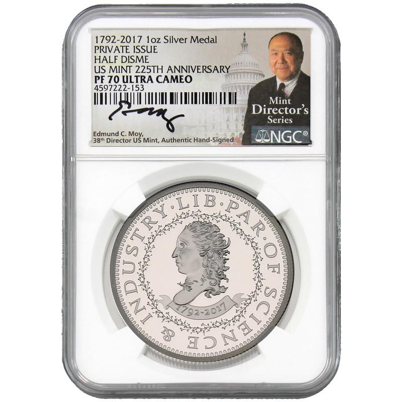 1792-2017 Half Disme 225th Anniversary Restrike 1 oz .999 Silver Proof Coin