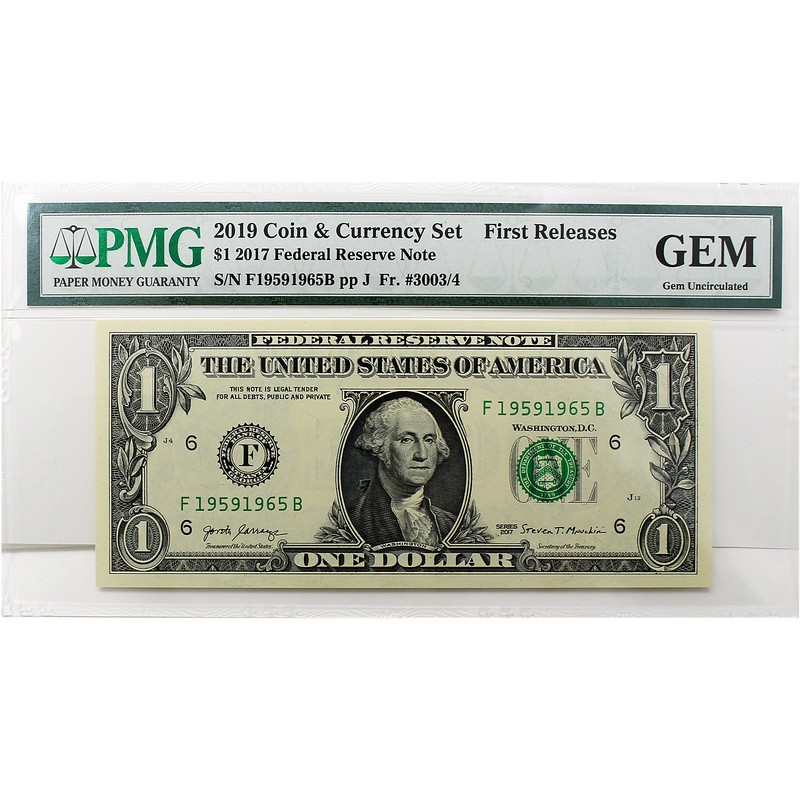 2019 Coin And Currency Set 2017 Dollar PMG First Releases Gem Uncirculated