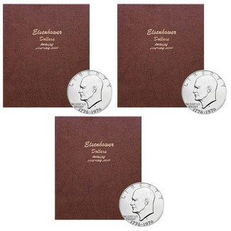 Complete Eisenhower Dollar Set in Dansco Album (3 Count)
