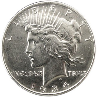1934 D Peace Dollar AU-BU Condition