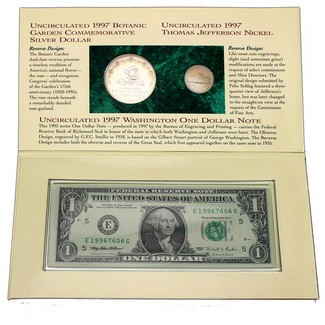 1997 Botanic Gardens Coin and Currency Set OGP