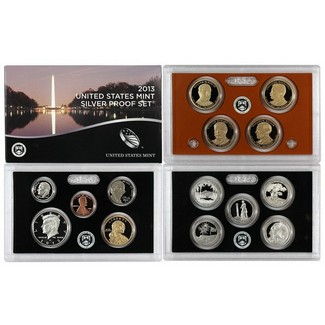 2013 Silver Proof Set OGP