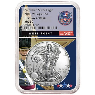 2018 1oz Silver American Eagle Ngc Ms69 Early Releases Flag Label Black Core Zoom
