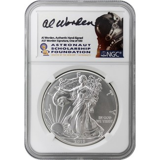 2019 Silver Eagle NGC MS70 FDI Al Worden Signed One of 500 ASF Label