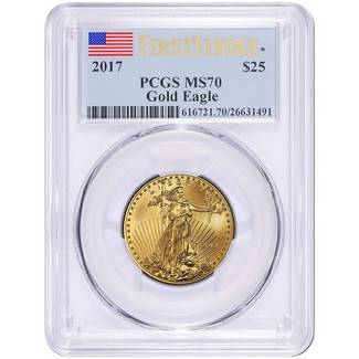 2017 $25 Gold Eagle PCGS MS70 First Strike Label