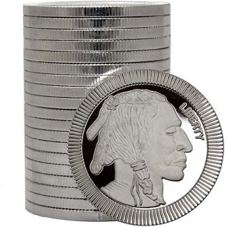 Buffalo Replica Stackables™ 1oz .999 Silver Medallion (20 Count in Tube)