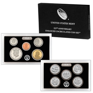 225th Anniversary Enhanced Uncirculated Coin Set OGP