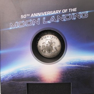 2019 $5 Barbados 1oz Silver Spherical Moon Coin