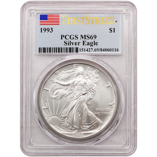 1993 Silver Eagle PCGS MS69 First Strike - Pop 1,190